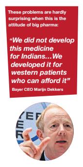 Big pharma problem, Bayer Ceo