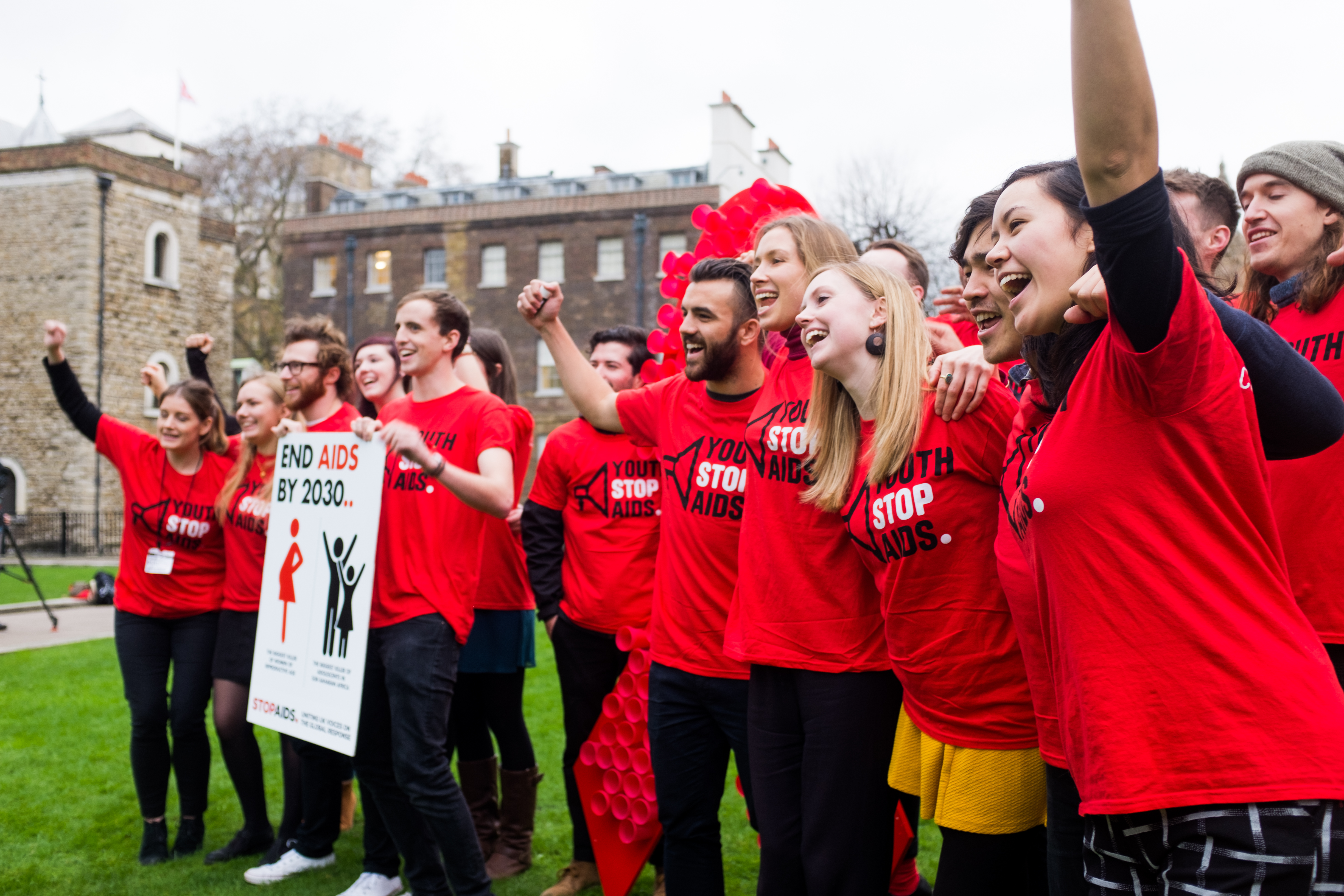 Campaigners at World AIDS Day launch